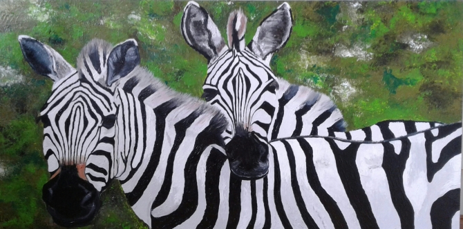 Marianne Libregts Zebra art oil painting schilderij commission kunst